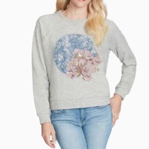 JESSICA SIMPSON KERA SHOOTING STAR SWEATSHIRT NWT